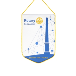 Nouveau fanion du Rotary Club Paris Agora
